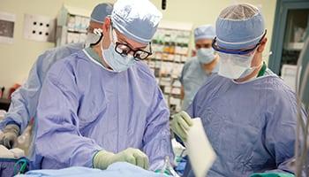 Doctors in operating room