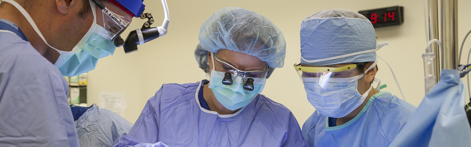 Rebecca Sippel in operating room