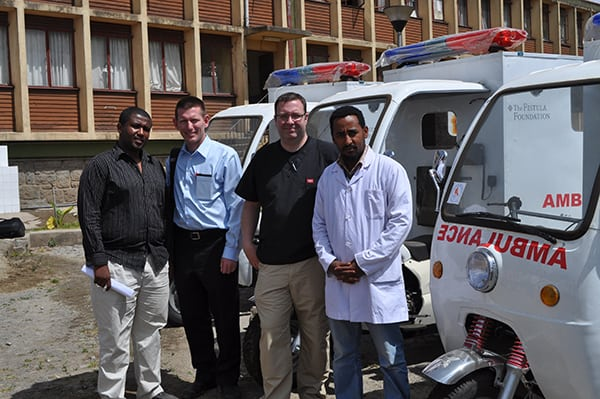 Ethiopian training center and ambulences