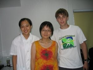 Dr. Gao, Xiaocheng Dai and Matt take a picture together at the EENT Hospital