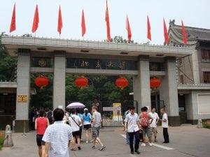 UW lab employee Mike visiting the Beijing Medical School