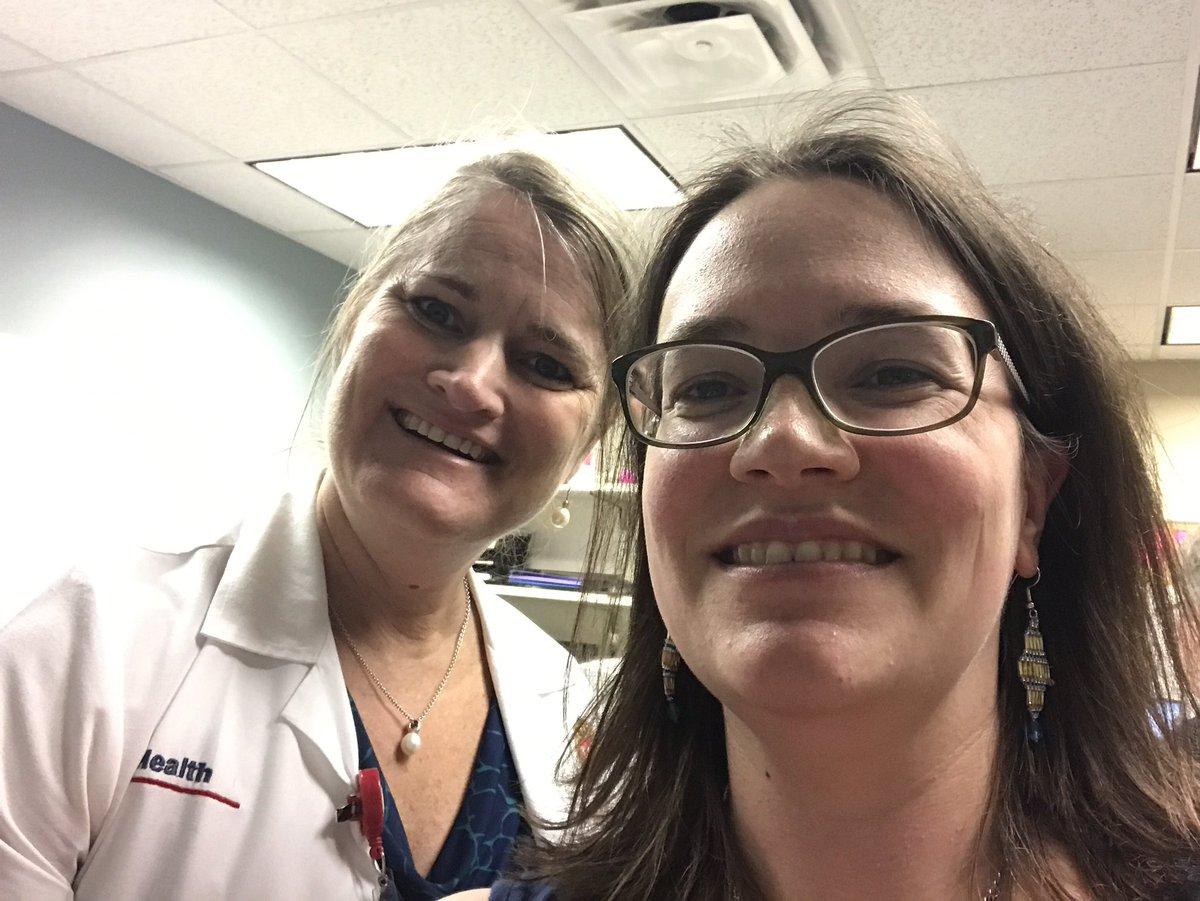 Resident Dr. Devon Livingston-Rosanoff snaps a selfie with her adviser Dr. Lee Wilke.