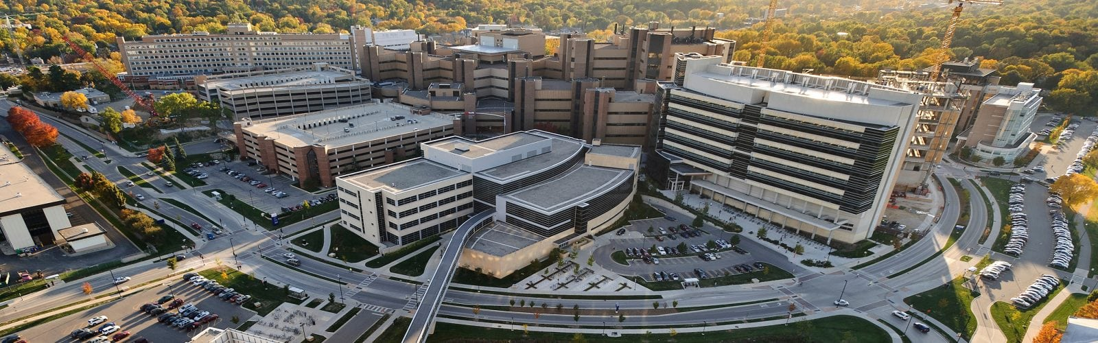 aerial view of UW Hospital