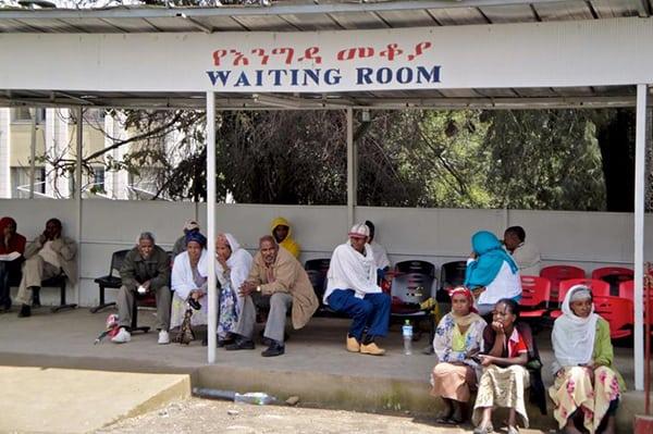 Ethiopian waiting room