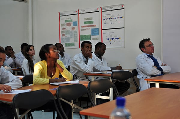 Students at a workshop at the AAU Emergency Training Center