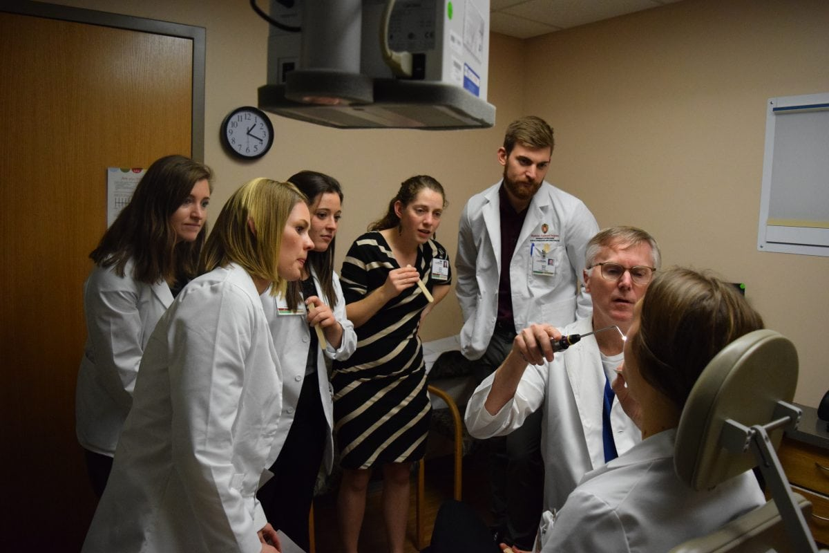 otolaryngology department teaching PA program